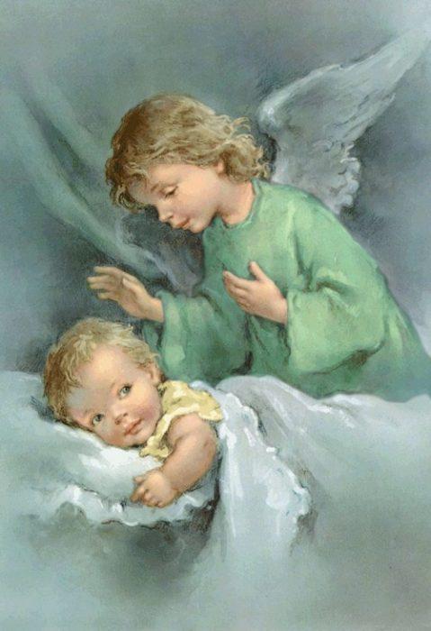 Ангел Хранитель у колыбели младенца