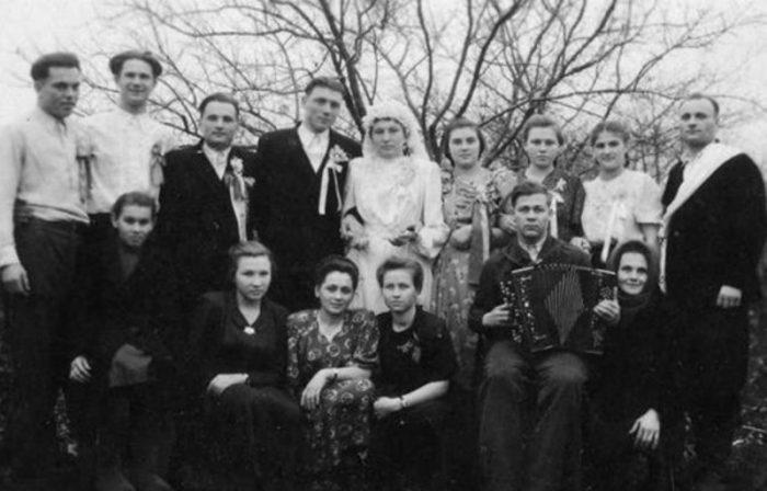 старое свадебное фото