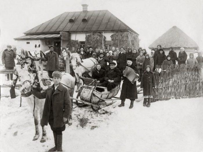 деревенская свадьба черно-белое фото