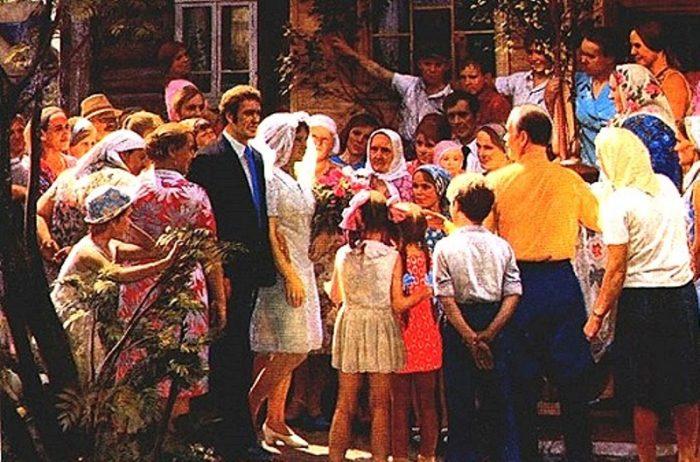 советская свадьба на картине