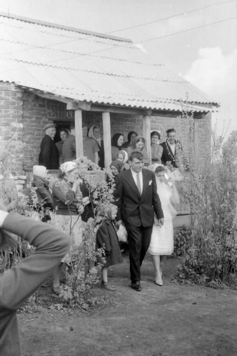 старое фото со свадьбы