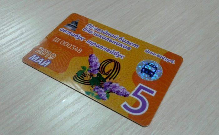 Школьный проездной билет (г. Великий Новогород)