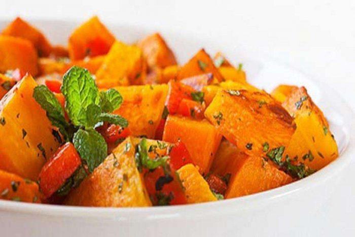 Сладкий салат из тыквы