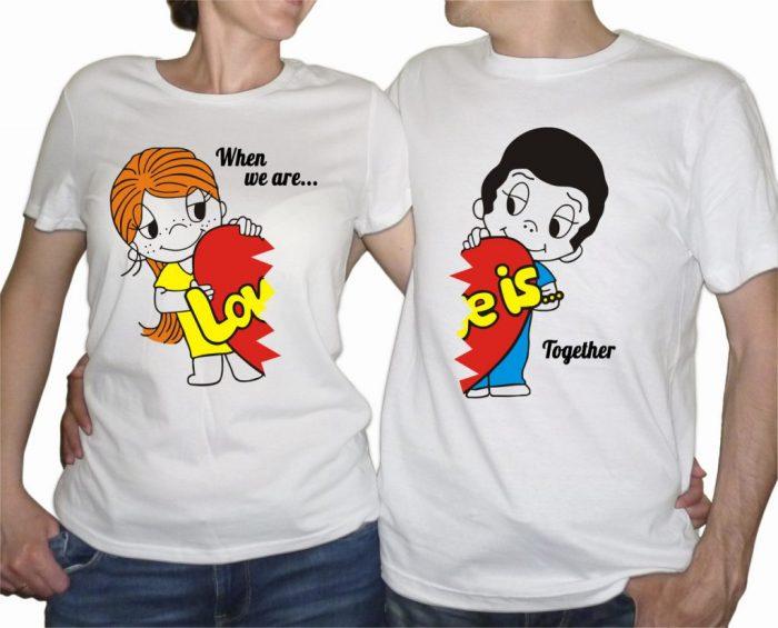 парные футболки для влюблённых