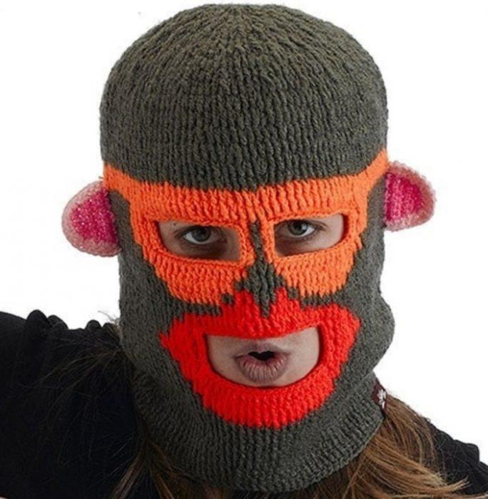 шапка-балаклава в виде обезьянки