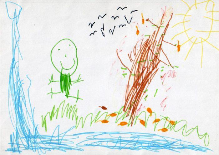 детский рисунок фломастерами