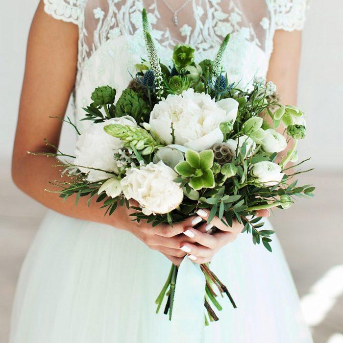Зелень в свадебном букете