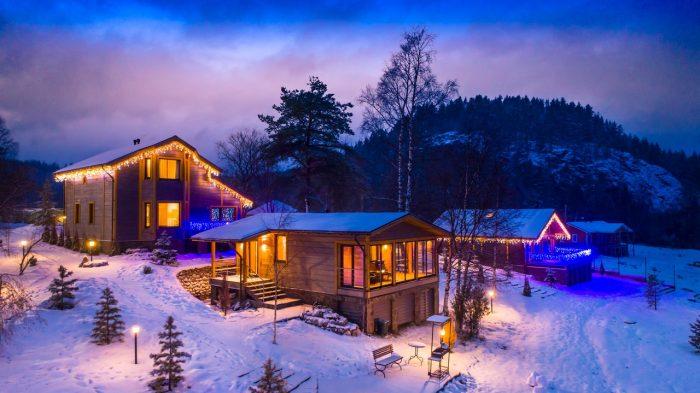 Несколько домов, где можно провести зимний отдых
