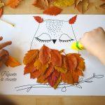 детские руки делают аппликацию «Сова»
