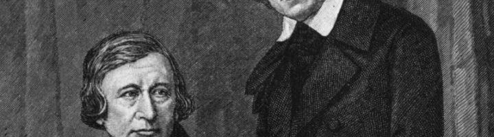 Писатели Якоб (слева) и Вильгельм (справа) Гримм