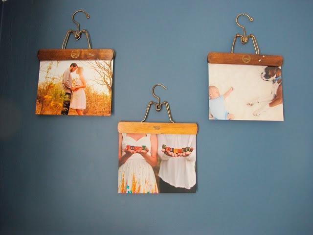 Фотографии без рамок на стене