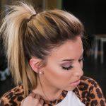 Причёска «высокий хвост»