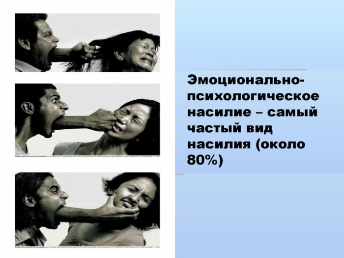 Эмоционально-психологическое насилие над женщиной